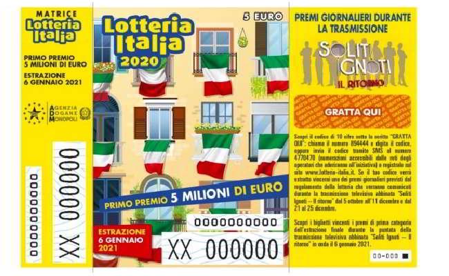 Lotteria Italia 2020, elenco biglietti vincenti