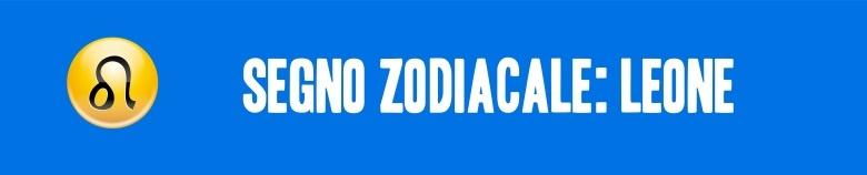 segno zodiacale leone VERT